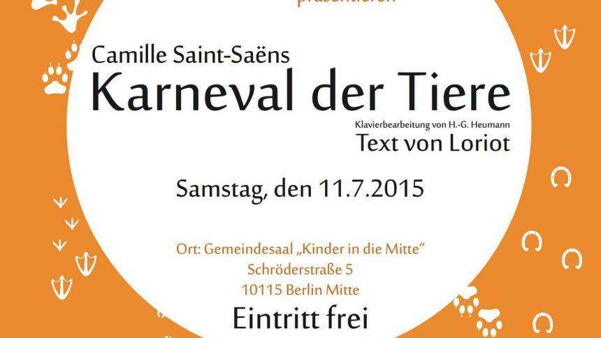 Karneval der Tiere - Schülerkonzert Klavierschule Berenstein
